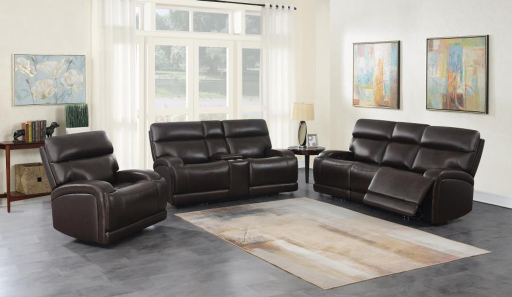 The Longport Dark Brown Reclining Collection