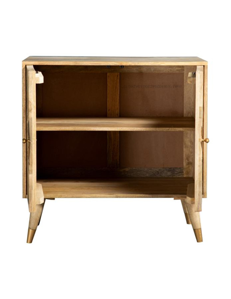 The Gajiani Solid Wood Accent Cabinet