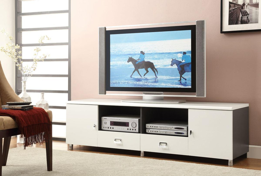 Contemporary Tv Stand In White High Gloss Miami Direct Furniture