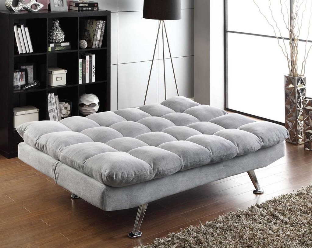 Magnificent Plush Sofa Bed In Grey Teddy Bear Fabric Gamerscity Chair Design For Home Gamerscityorg