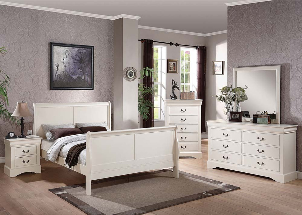 The Louis Philippe Iii Bedroom White Bedroom Collection Miami Direct Furniture
