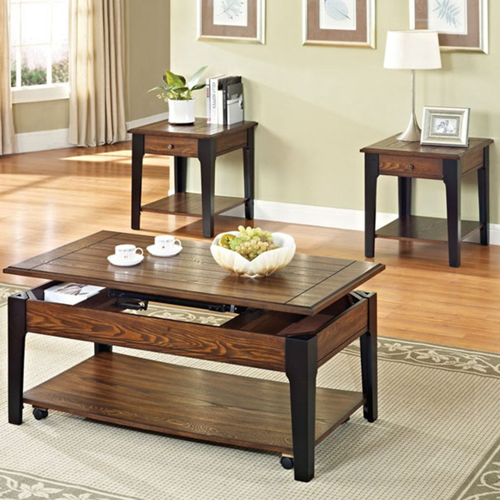 - The Magus Lift Top Storage Coffee Table Set - Miami Direct Furniture