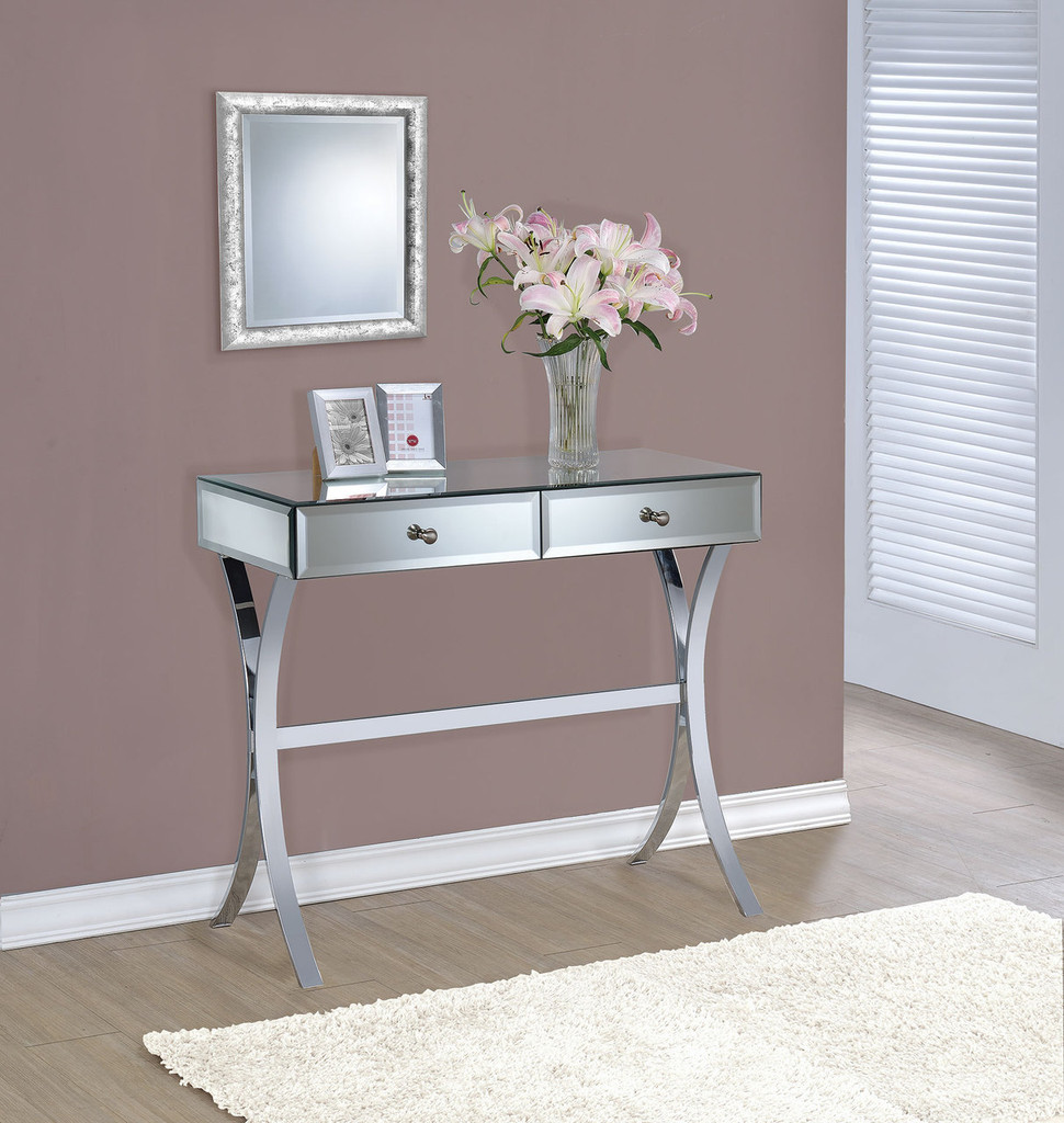Accent Tables Mirror Console Table
