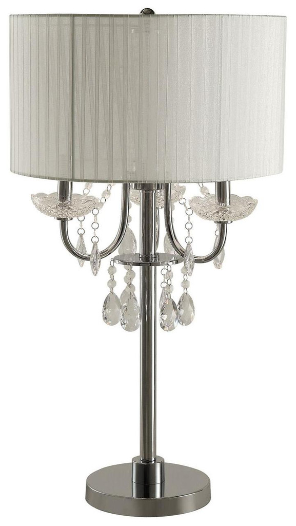 Beau Click Here To Enlarge. Table Lamp W/Hanging Crystal