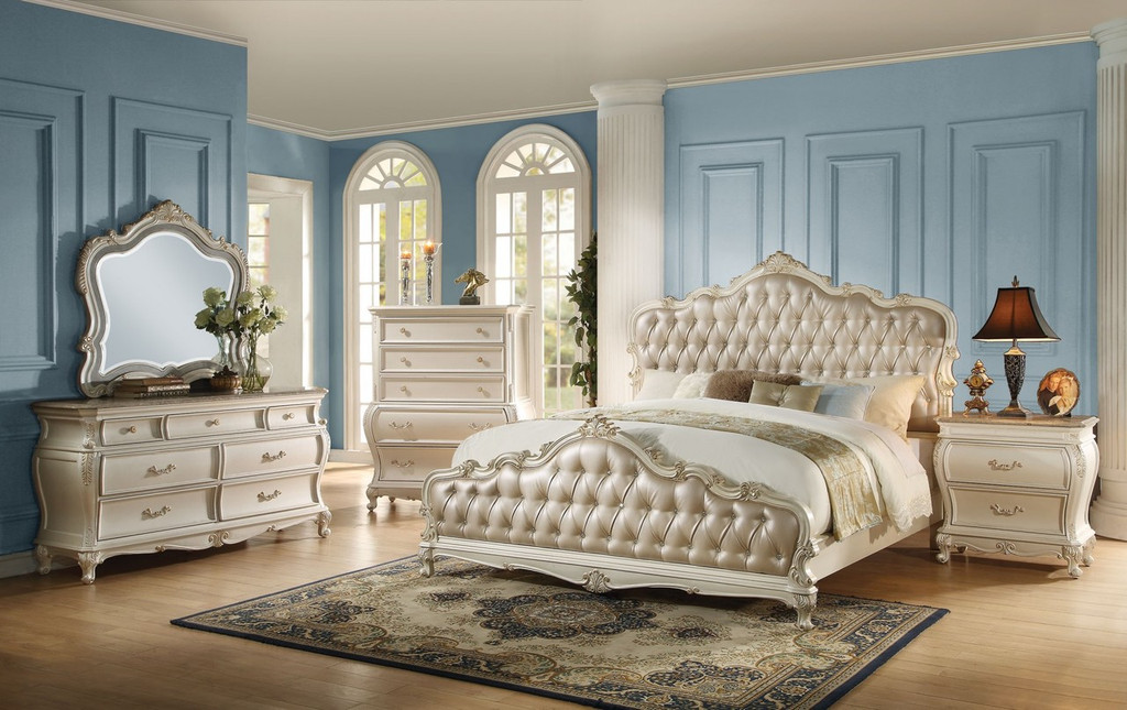 The Chantelle Pearl White Bedroom Collection