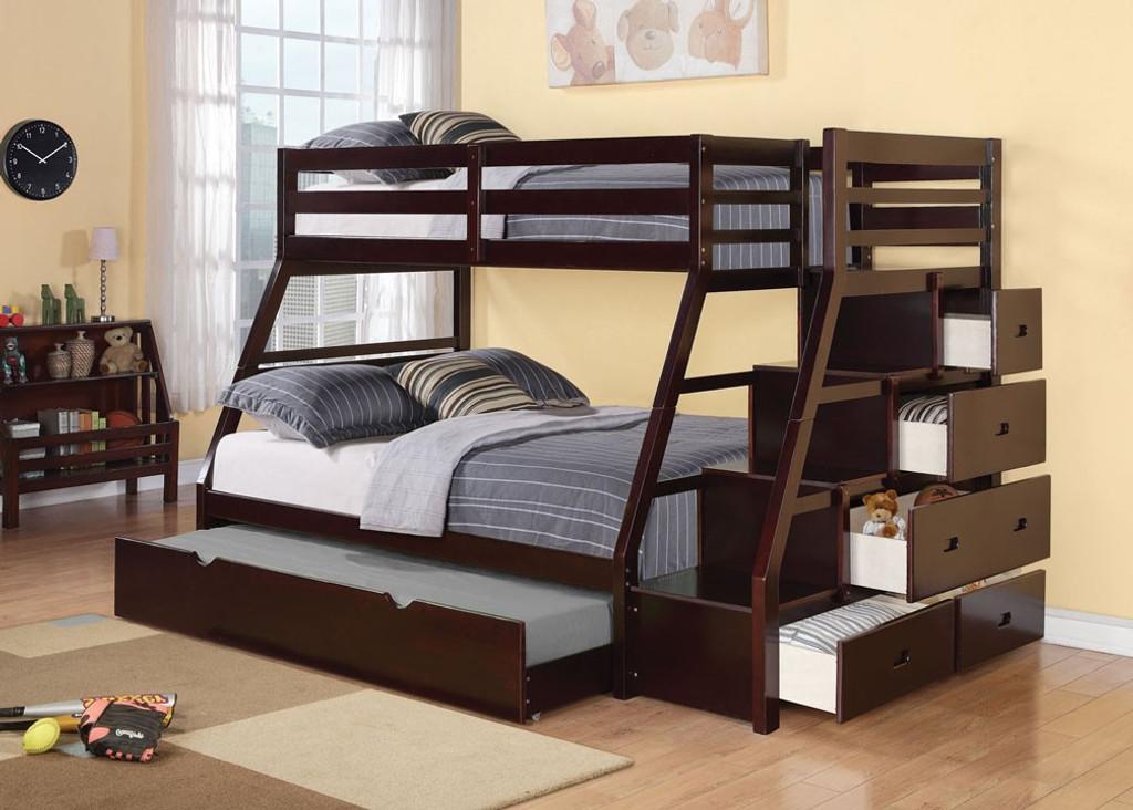 The Jason Espresso Bunk Bed Miami Direct Furniture