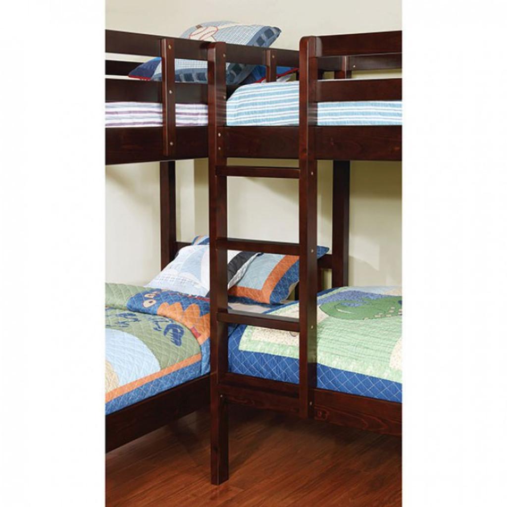 Picture of: The Marquette Quadruple Twin Bunk Bed Miami Direct Furniture
