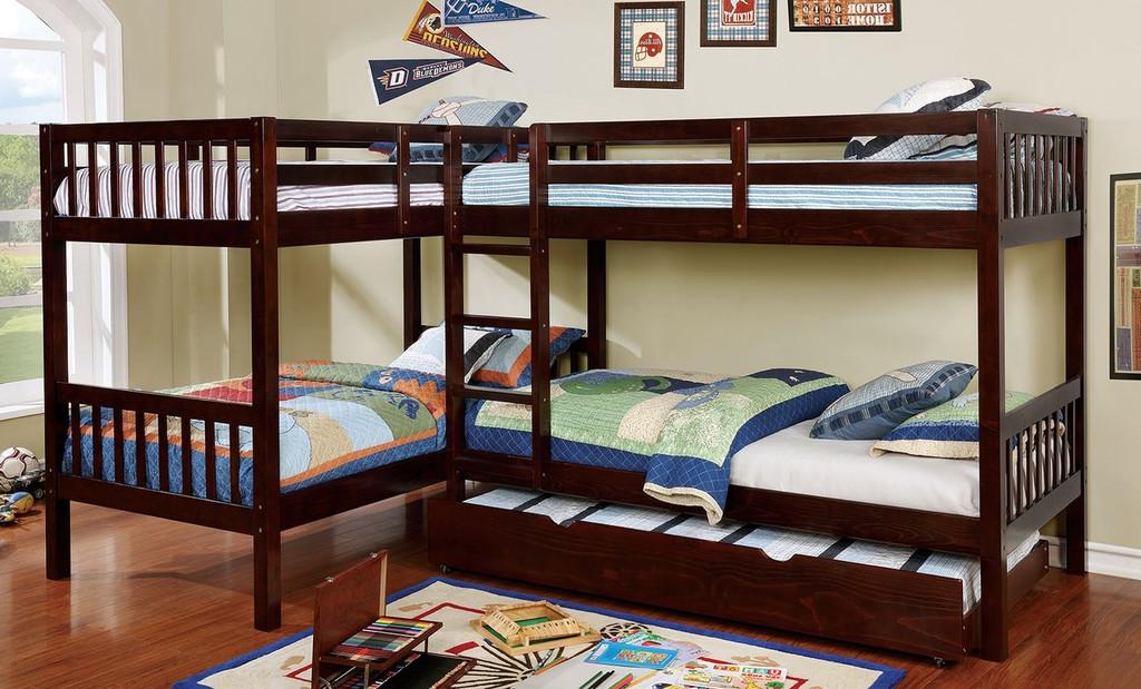 The Marquette Quadruple Twin Bunk Bed Miami Direct Furniture