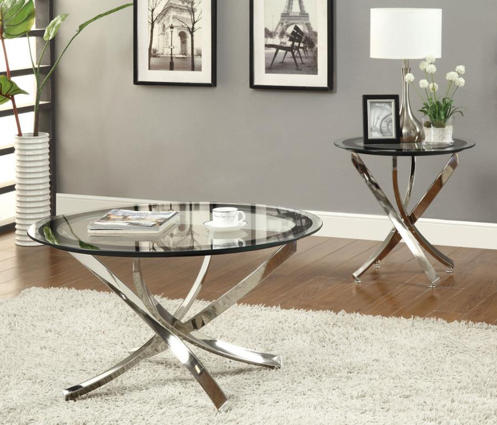 Picture of: 3pc Marlo Glass Top Table Set Miami Direct Furniture