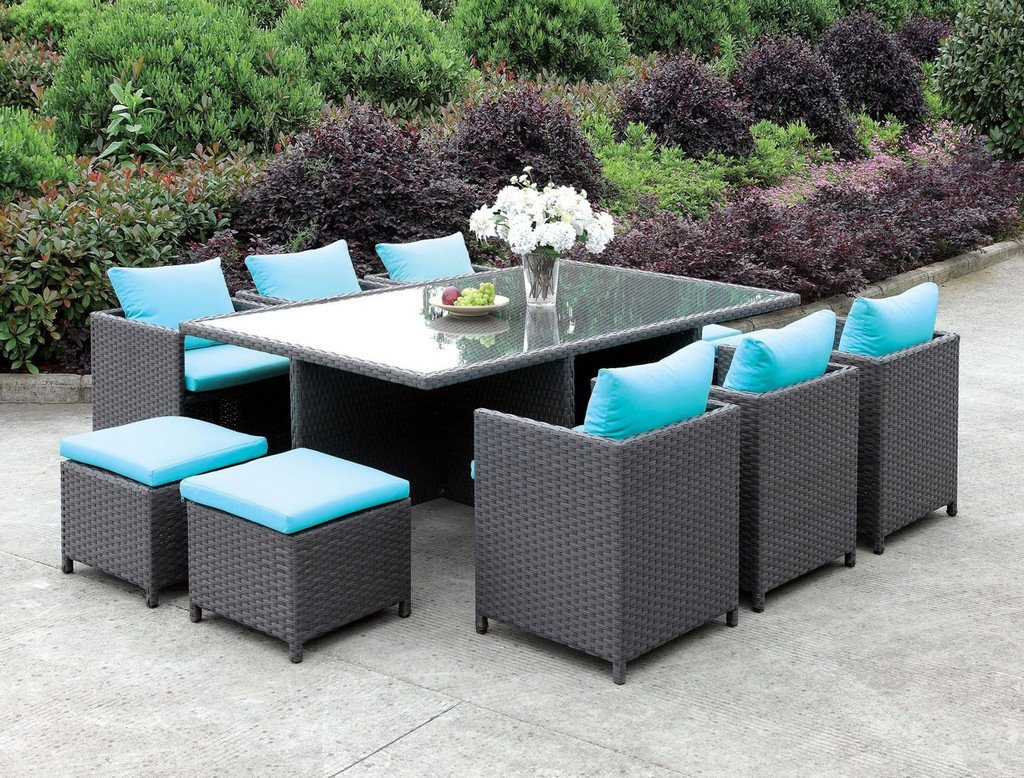 Ashanti 11pc outdoor dining collection cm ot2127 click here to enlarge