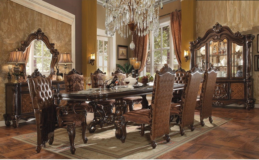 Astounding The Versailles Cherry Oak Royal Dining Room Collection Interior Design Ideas Philsoteloinfo
