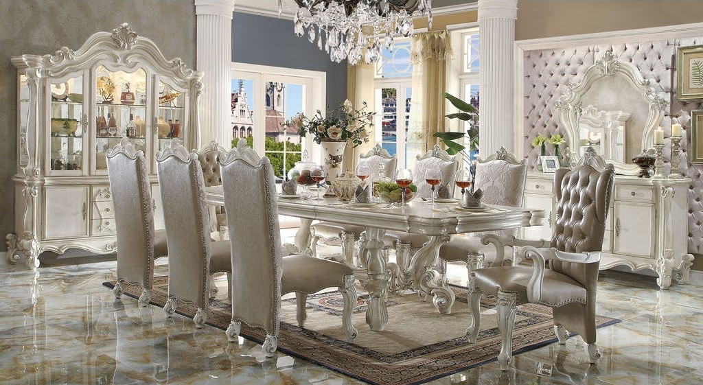 The Versailles White Royal Dining Room Collection Miami