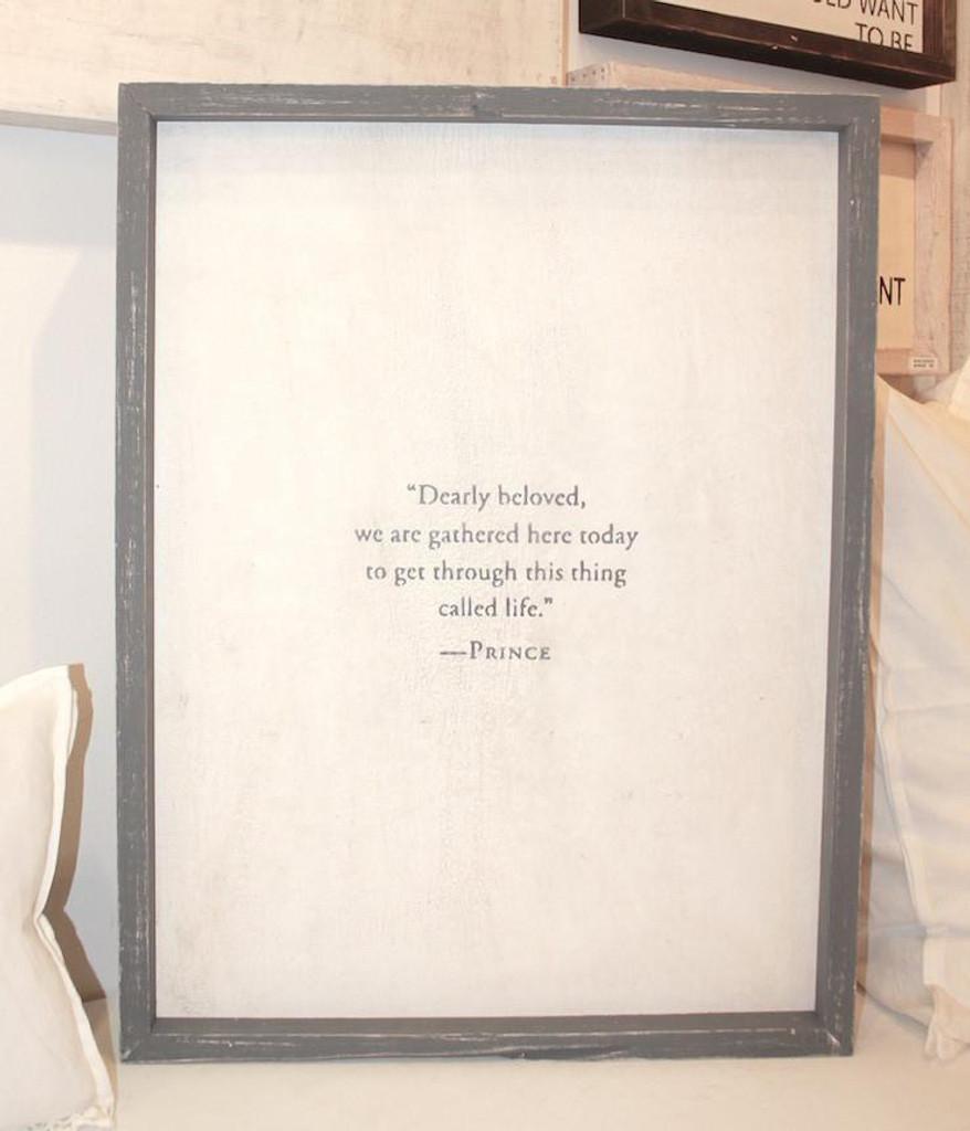 Dearly Beloved Prince Word Board
