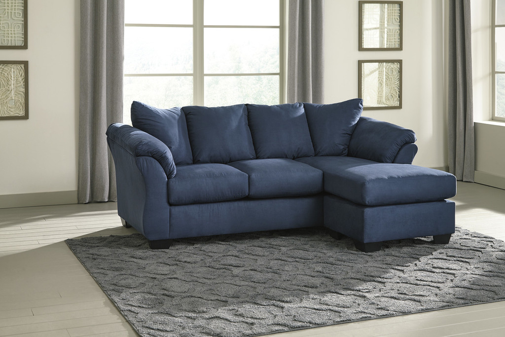 The Darcy Blue Sofa Chaise