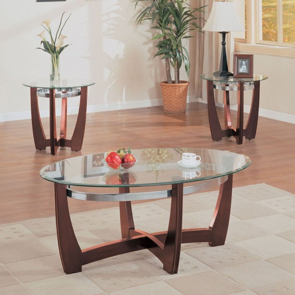 Picture of: The Baldwin 3pc Glass Top Coffee Table Set Miami Direct Furniture