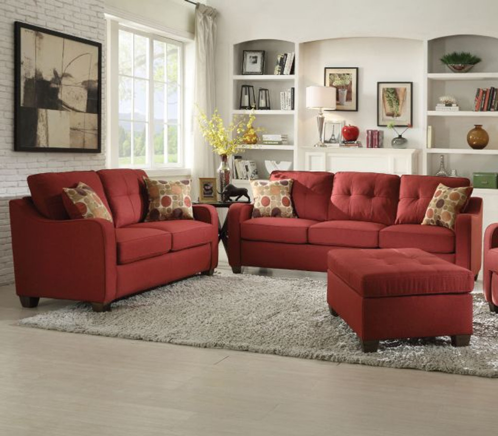 The Cleavon II Red Living Room Set