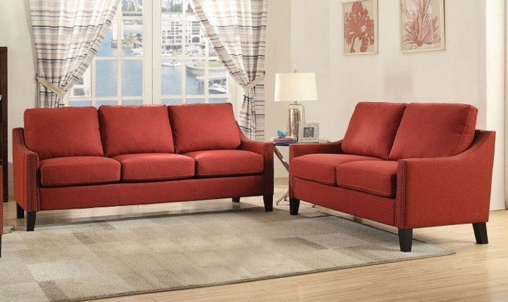 The Zapata Red Living Room Set