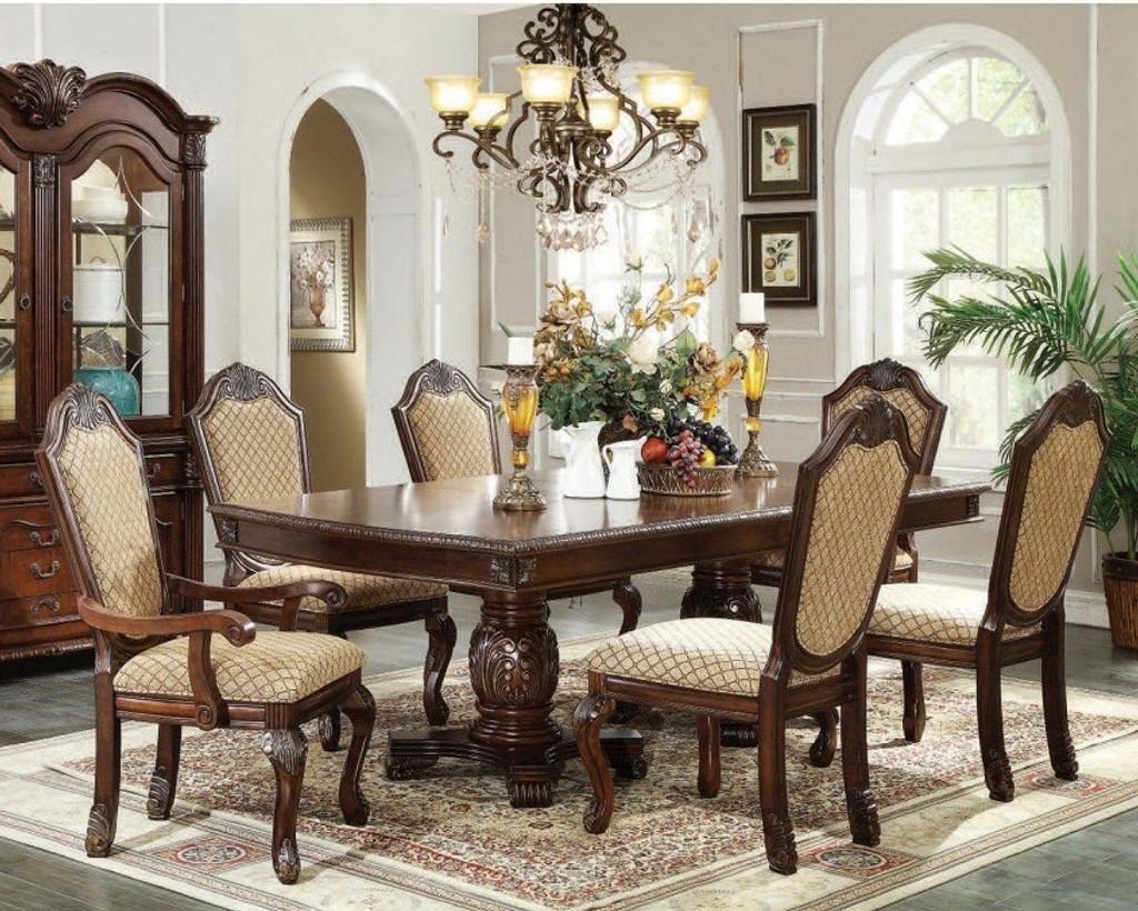 The Chateau De Ville 7pc Espresso Dining Collection Miami Direct Furniture