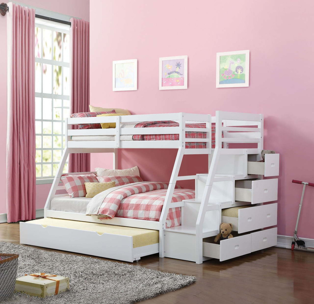 The Jason White Bunk Bed - Miami Direct Furniture