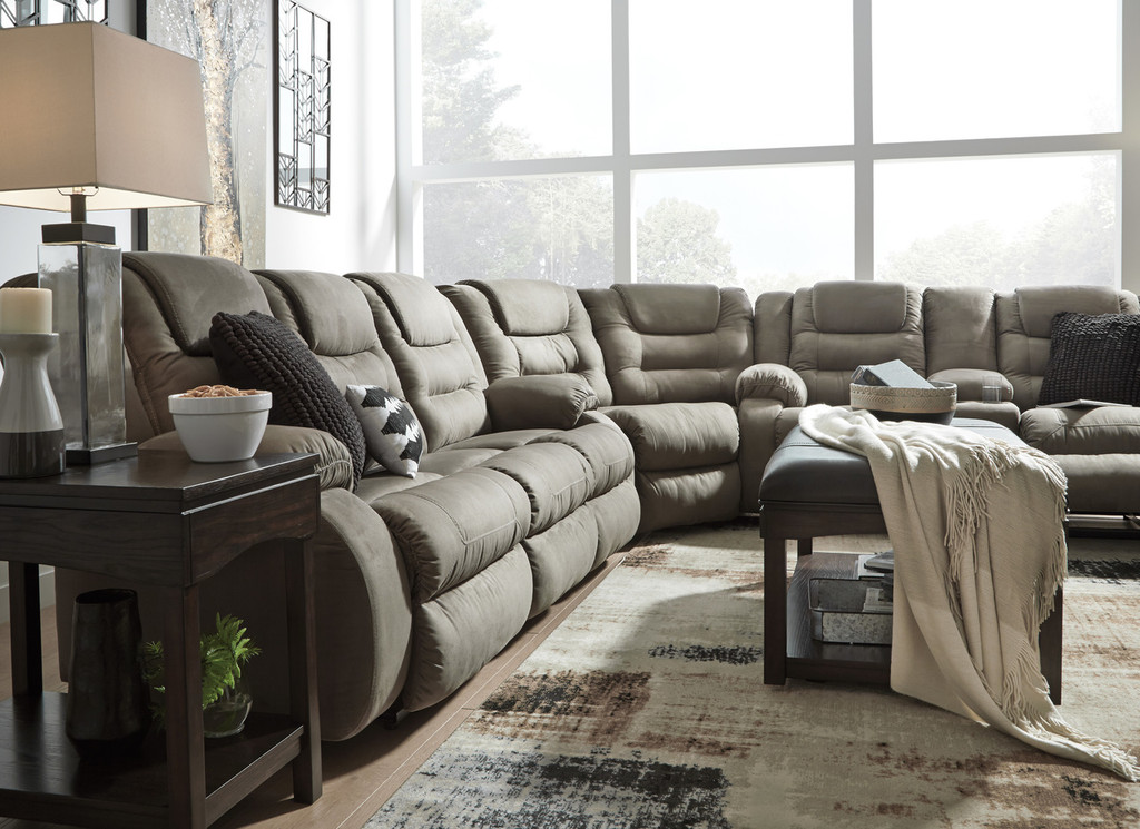 Sensational The Mccabe Cobblestone Reclining Sectional Unemploymentrelief Wooden Chair Designs For Living Room Unemploymentrelieforg