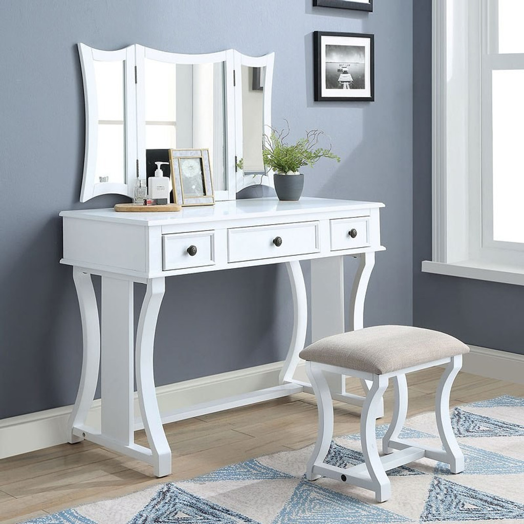 quality design 31818 dbb8b The Popidia White Vanity Set