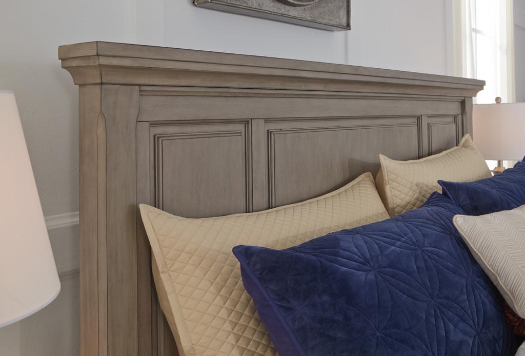 The Lettner Light Gray Panel Storage Bedroom