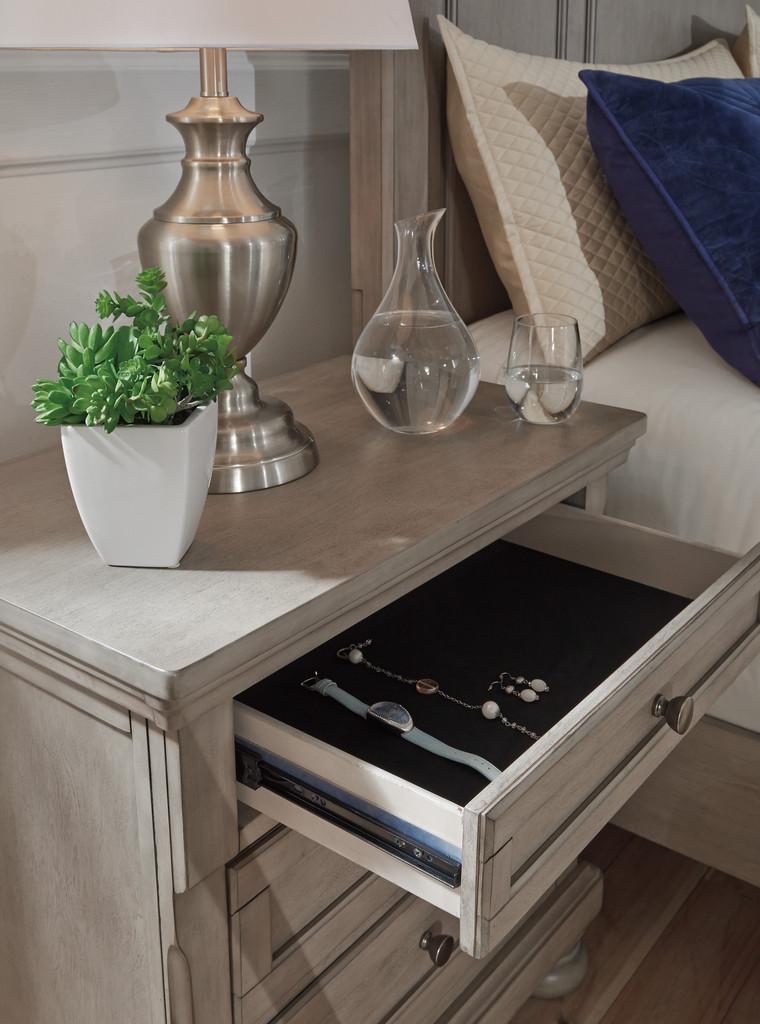 The Lettner Light Gray Sleigh Bedroom