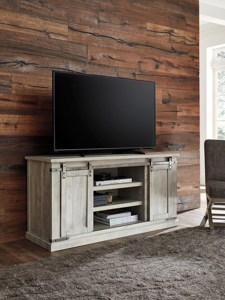 The Carynhurst Large Whitewash TV Stand