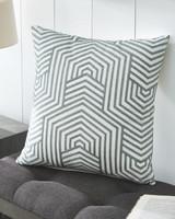 The Adrik Green & Cream Accent Pillow Set