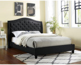 The Carly Black Upholstered Bed