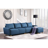 The Marcin Blue Sectional