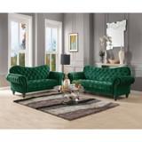 The Iberis Green Velvet Living Collection