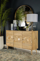 The Gajiani Large Solid Wood Accent Cabinet