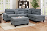 The Ireli Sectional with Ottoman