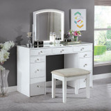 The Louise Glam Vanity With Stool