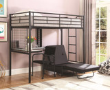 The Workstation loft bunk with futon