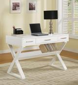 The Xavier Office Desk in White Finish