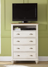 The Ocean Isle Collection Media Chest