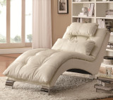 Sophisticated Modern Living Room Chaise in White