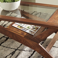 The Charzine Glass Top Table Set