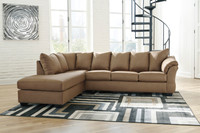 The Darcy 2pc Mocha Sectional