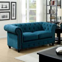 The Standford Dark Teal Living Room Set