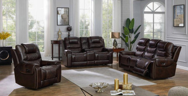 The North Power Dark Brown Reclining Collection