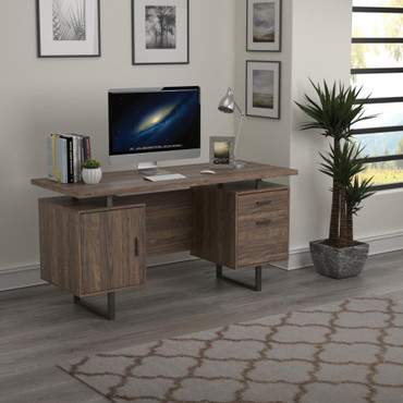 The Lawtey Aged Walnut Collection Desk
