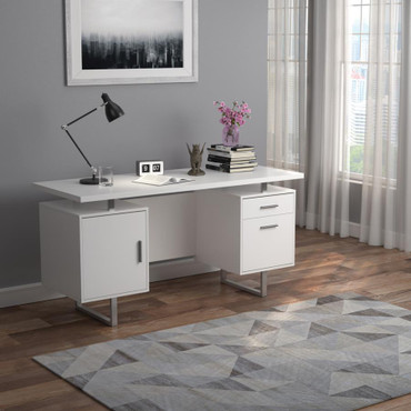 The Lawtey White Gloss Collection Desk
