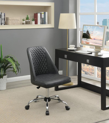 The Troy Collection Deep Grey Chair