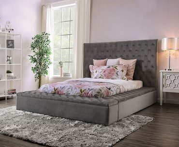 The Davida Gray Upholstered Bed