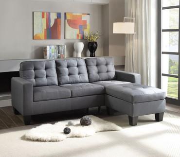 The Earsom Gray Sofa Chaise