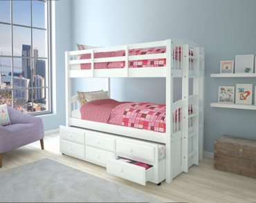 The Micah Twin/Twin Bunk With Trundle