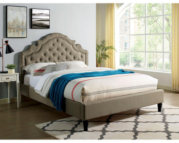 The Aubree Grey Fabric Bed